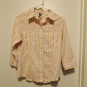 The north face button down top size small